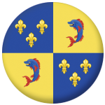Dauphine Former Province Flag 58mm Button Badge